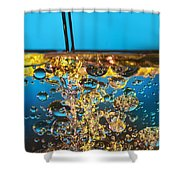 Water And Oil Shower Curtain