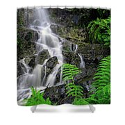Waterfall In Cradle Mountain Shower Curtain