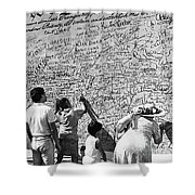 We The People Signing Bicentennial Of The Constitution Tucson Arizona 1987 Shower Curtain