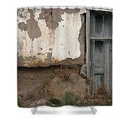Weathered Door In A Wall Shower Curtain