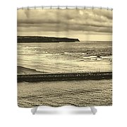 Whitby Harbor Shower Curtain