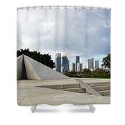 White City Statue, Tel Aviv, Israel Shower Curtain