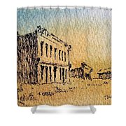 White Oaks Ghost Town New Mexico Shower Curtain