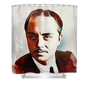 William Powell, Hollywood Legend Shower Curtain