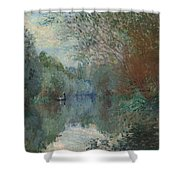 Willows At The Edge Of The Yerres Shower Curtain