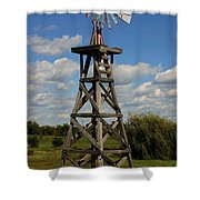 Windmill-5747b Shower Curtain