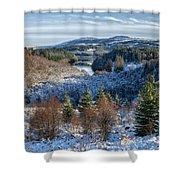Winter Wonderland In Central Scotland Shower Curtain