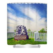Wisconsin Sharpshooters Shower Curtain