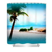 Wish You Were Here Shower Curtain