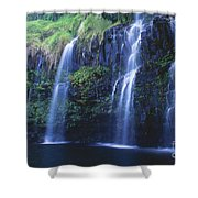 Woman At Waterfall Shower Curtain