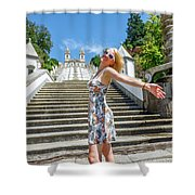 Woman In Portugal Shower Curtain
