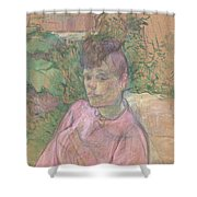 Woman In The Garden Of Monsieur Forest Shower Curtain