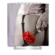 Woman With A Carnation Shower Curtain