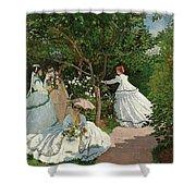 Women In The Garden Shower Curtain