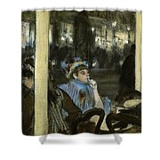 Women On A Cafe Terrace Shower Curtain