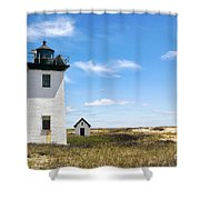 Wood End Lighthouse In Provincetown On Cape Cod Massachusetts Shower Curtain