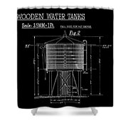 Wooden Water Tanks Shower Curtain