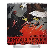 World War I: Air Service Shower Curtain by Granger