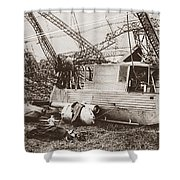 World War I: Zeppelin Shower Curtain