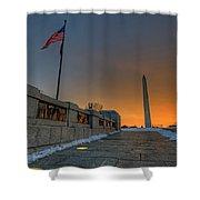 World War II Memorial Sunrise Shower Curtain