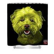 Yellow West Highland Terrier Mix - 8674 - Bb Shower Curtain