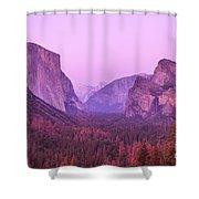 Yosemite Pink Sunset Shower Curtain