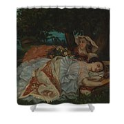 Young Ladies On The Bank Of The Seine Shower Curtain