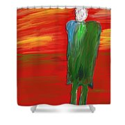 Digital Painting Shower Curtain