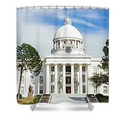 Facade Of A Government Building Shower Curtain