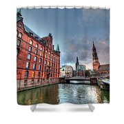Hamburg Germany Shower Curtain