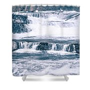 Kootenai River Water Falls In Montana Mountains Shower Curtain