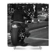 Motorcycles On Main Shower Curtain