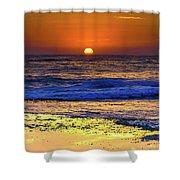 Sunrise Seascape And Rock Platform Shower Curtain