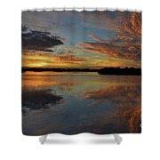 20- Sunset At Burnt Bridge Shower Curtain