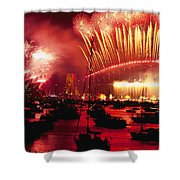 20 Tons Of Fireworks Explode Shower Curtain