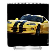 2001 Dodge Viper 'methenol Injected'  Shower Curtain