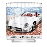 2003 Corvette Prototype Shower Curtain