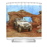 2005 Jeep Rubicon 4 Wheeler Shower Curtain
