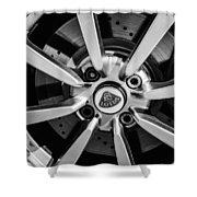 2005 Lotus Elise Wheel Emblem -0079bw Shower Curtain