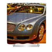 2006 Chicago 2006 Bentley Continental Gtauto Show Shower Curtain