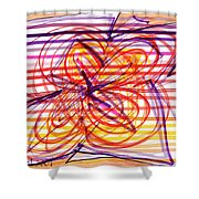 2007 Abstract Drawing 2 Shower Curtain
