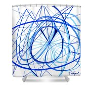 2007 Abstract Drawing 3 Shower Curtain