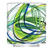 2007 Abstract Drawing 4 Shower Curtain
