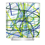 2007 Abstract Drawing 5 Shower Curtain