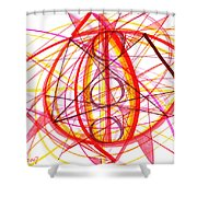 2007 Abstract Drawing 6 Shower Curtain