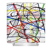 2007 Abstract Drawing 7 Shower Curtain