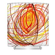 2007 Abstract Drawing 8 Shower Curtain