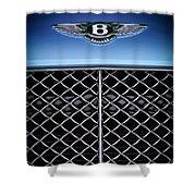 2007 Bentley Continental Gtc Convertible Hood Ornament Shower Curtain