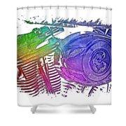 2007 Harley C 01 Cool Rainbow 3 Dimensional Shower Curtain