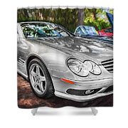 2008 Mercedes Benz Sl500 V8 Coupe Painted   Shower Curtain